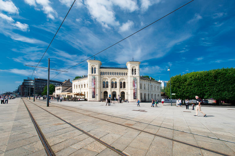 Centro di pace Nobel a Oslo Norvegia immagini stock