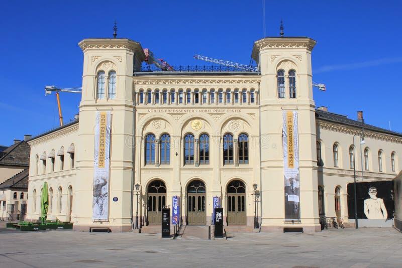 Centro di pace Nobel a Oslo, Norvegia, Scandinavia fotografie stock libere da diritti