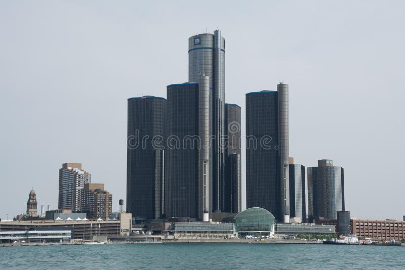 Centro di rinascita del GM a Detroit, Michigan immagine stock libera da diritti