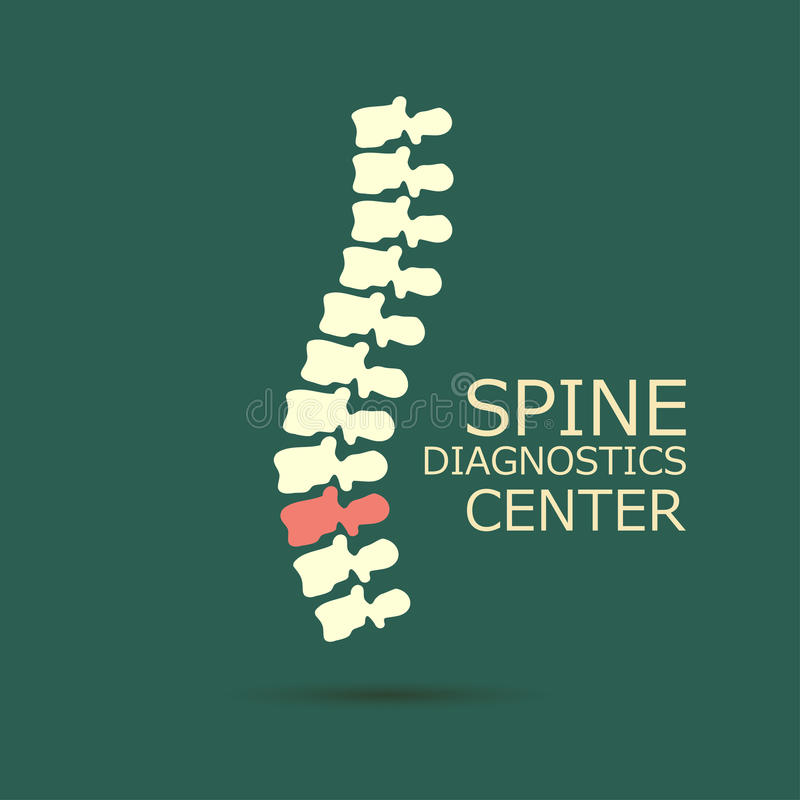 Centro di sistemi diagnostici della spina dorsale royalty illustrazione gratis