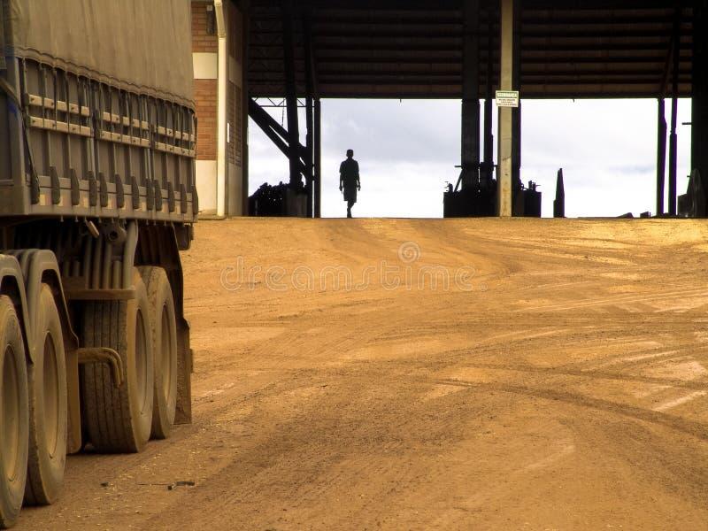 Centro di stoccaggio del grano immagine stock libera da diritti