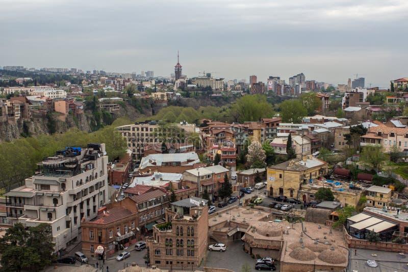 Centro di Tbilisi Georgia 2018 fotografia stock libera da diritti