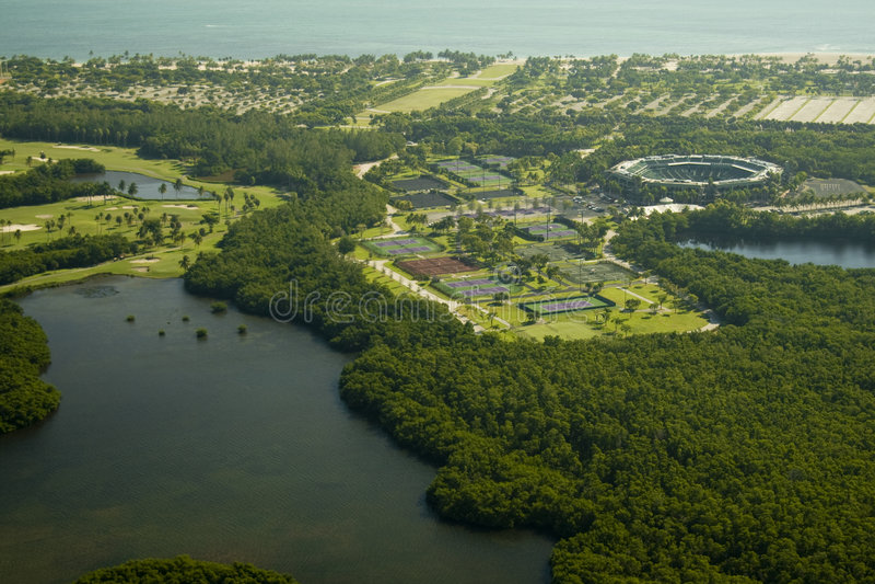 Centro di tennis del parco di Crandon immagine stock