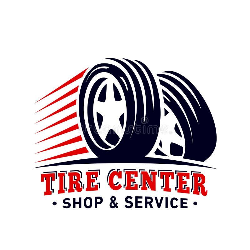 Centro di Tiro, negozio e modello di progetto di servizio Logo concentrare della gomma Vettore ed illustrazione royalty illustrazione gratis