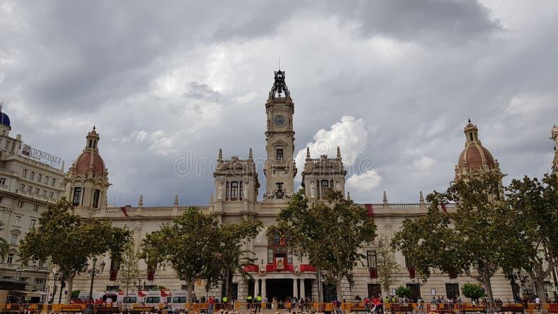 Centro di Valencia fotografie stock libere da diritti