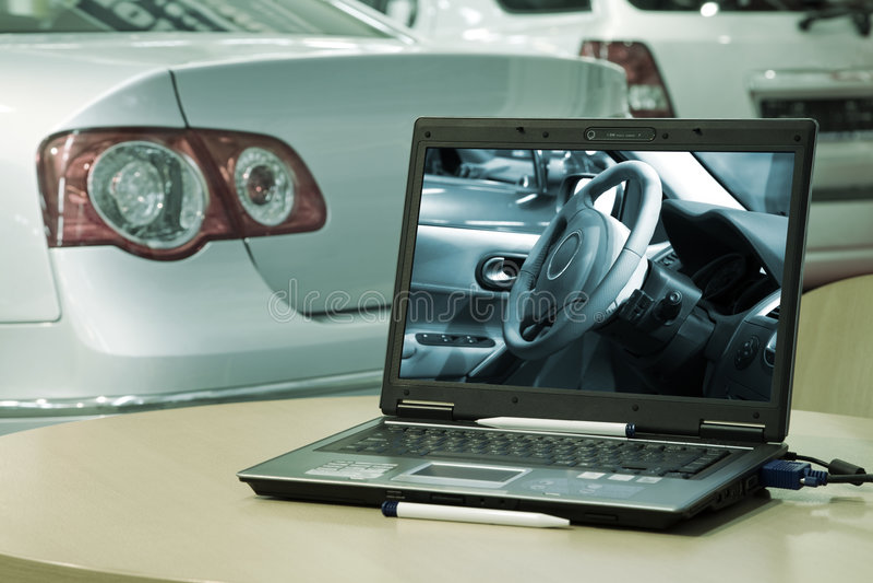 Centro di vendite dell'automobile fotografie stock libere da diritti