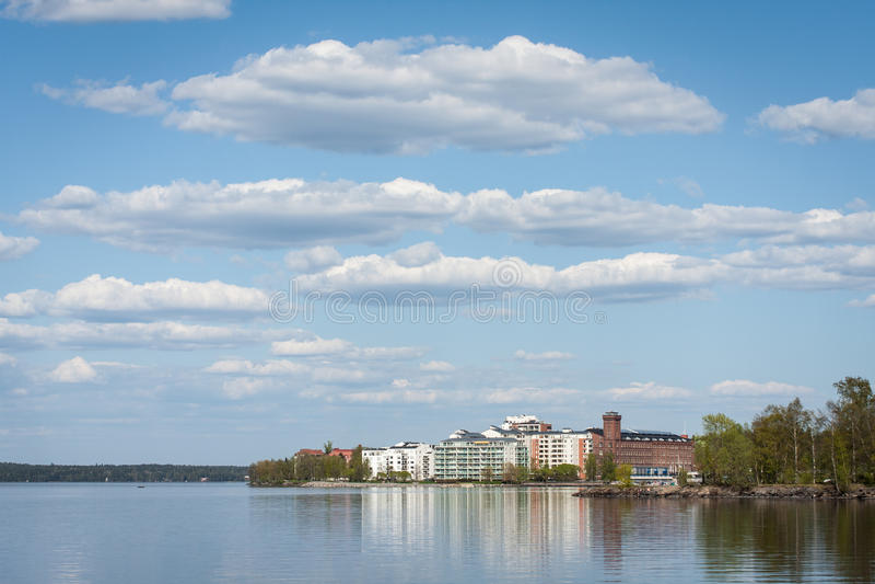 Centro di villeggiatura in Finlandia immagine stock libera da diritti