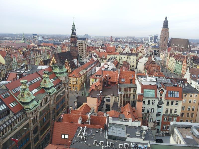 Centro di Wroclaw immagini stock
