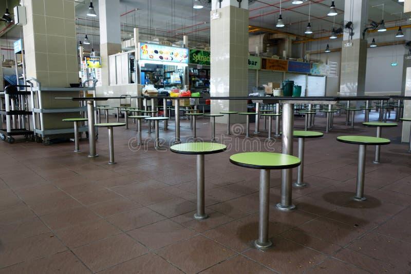 Centro do alimento da rua de Amoy imagem de stock