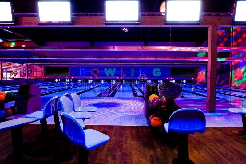Centro do bowling foto de stock