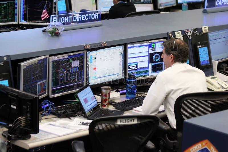 Centro do controlo da missão da estação espacial internacional fotos de stock