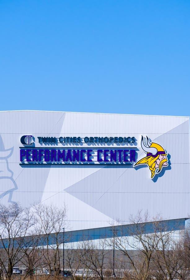 Centro do desempenho da ortopedia das cidades geminadas dos Minnesota Vikings imagens de stock royalty free