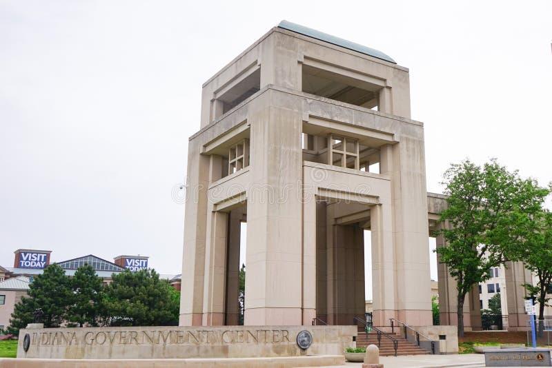 Centro do governo de Indiana imagem de stock royalty free