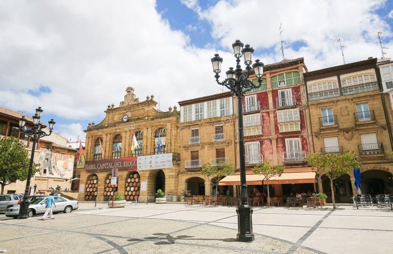 Centro do Haro em La Rioja, Espanha imagem de stock royalty free