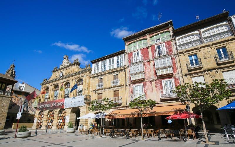 Centro do Haro em La Rioja, Espanha imagens de stock