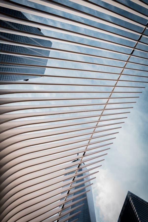 Centro do memorial de NYC imagem de stock