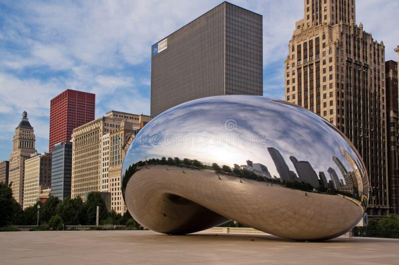 Centro do milênio em Chicago da baixa fotografia de stock royalty free