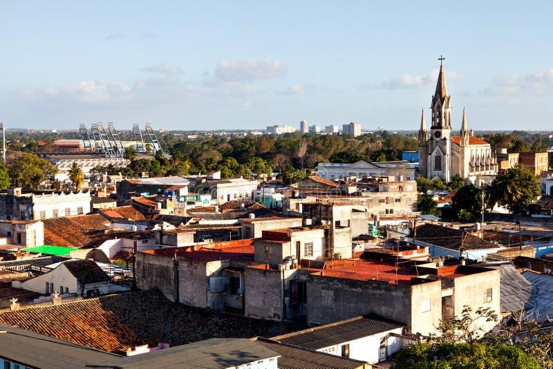 Centro do patrimônio mundial do UNESCO de Camaguey de cima de foto de stock royalty free