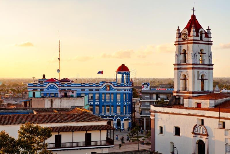 Centro do patrimônio mundial do UNESCO de Camaguey de cima de foto de stock