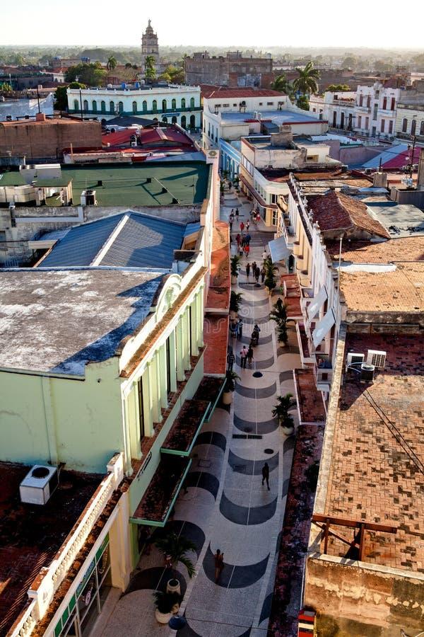 Centro do patrimônio mundial do UNESCO de Camaguey de cima de imagens de stock