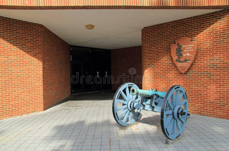 Centro do visitante do campo de batalha de Yorktown fotos de stock
