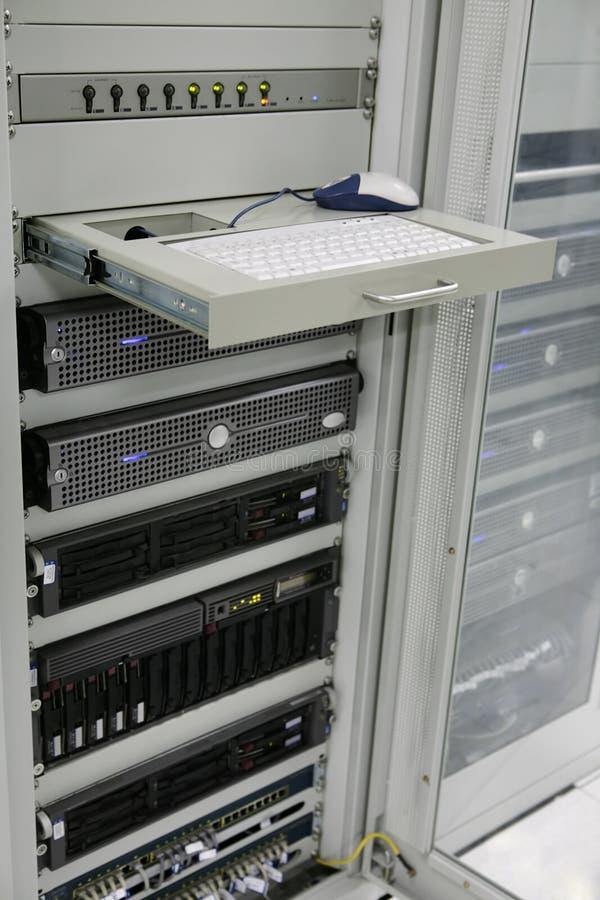 Centro dos servidores de comunicações imagens de stock