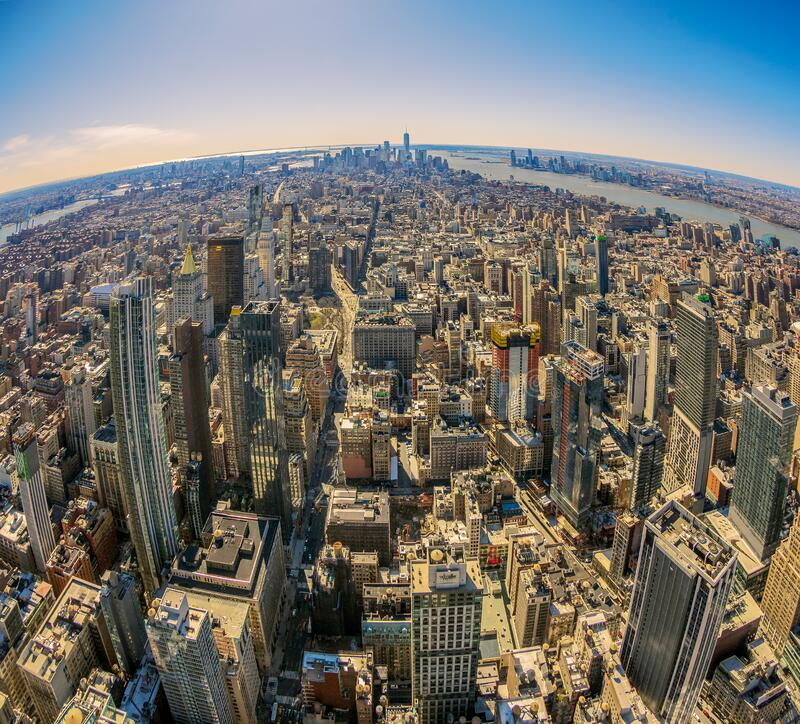 Centro e baixo de Manhattan à tarde Nova Iorque, EUA fotos de stock