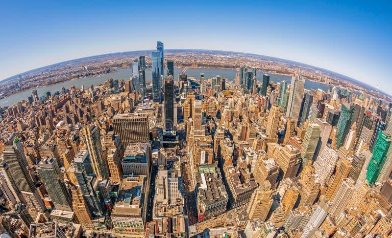 Centro e baixo de Manhattan à tarde Nova Iorque, EUA fotos de stock royalty free