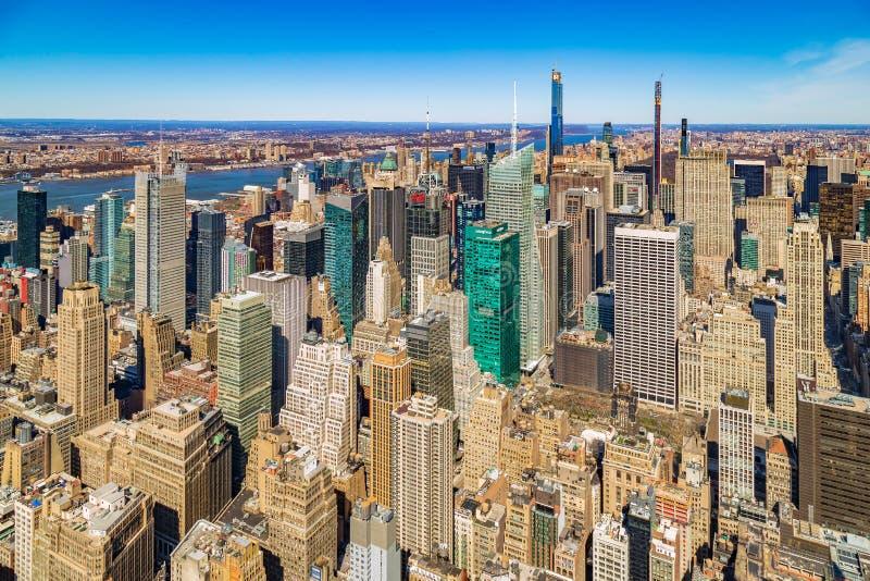 Centro e baixo de Manhattan à tarde Nova Iorque, EUA imagem de stock royalty free