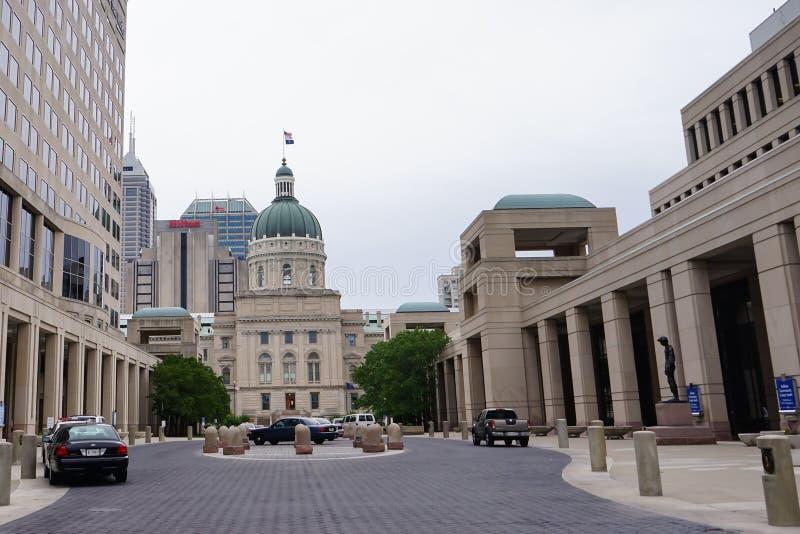 Centro e capitol do governo de Indiana fotografia de stock royalty free