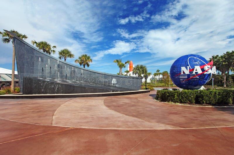 Centro Espacial Kennedy em Flordia foto de stock royalty free