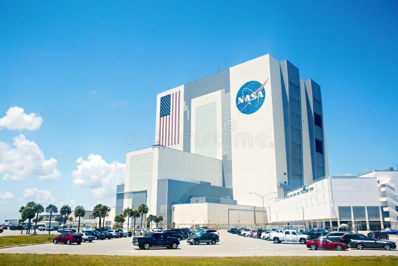 CENTRO ESPACIAL KENNEDY, FLORIDA, EUA - 21 DE ABRIL DE 2016: Construção da NASA foto de stock