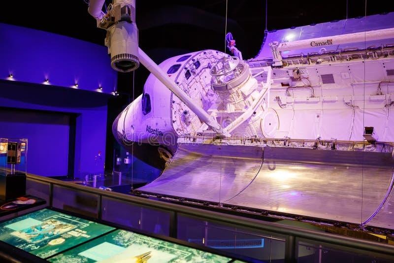 CENTRO ESPACIAL KENNEDY, FLORIDA, EUA - 21 DE ABRIL DE 2016: Kennedy Space Center perto de Cabo Canaveral em Florida foto de stock