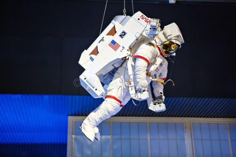 CENTRO ESPACIAL KENNEDY, FLORIDA, EUA - 21 DE ABRIL DE 2016: Kennedy Space Center perto de Cabo Canaveral em Florida fotografia de stock royalty free