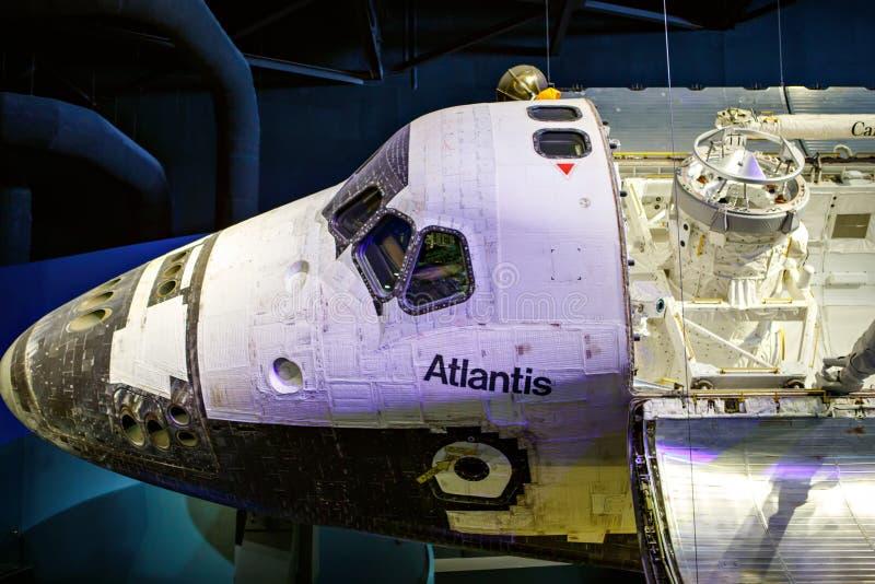 CENTRO ESPACIAL KENNEDY, FLORIDA, EUA - 21 DE ABRIL DE 2016: Kennedy Space Center perto de Cabo Canaveral em Florida imagem de stock royalty free