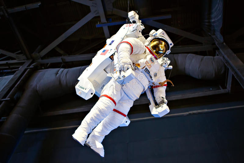 CENTRO ESPACIAL KENNEDY, FLORIDA, EUA - 21 DE ABRIL DE 2016: Kennedy Space Center perto de Cabo Canaveral em Florida fotos de stock royalty free