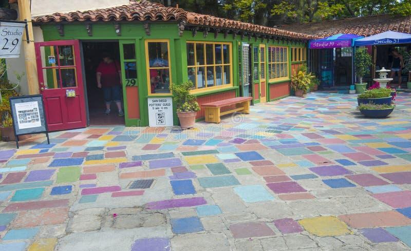 Centro espanhol da arte da vila imagem de stock royalty free