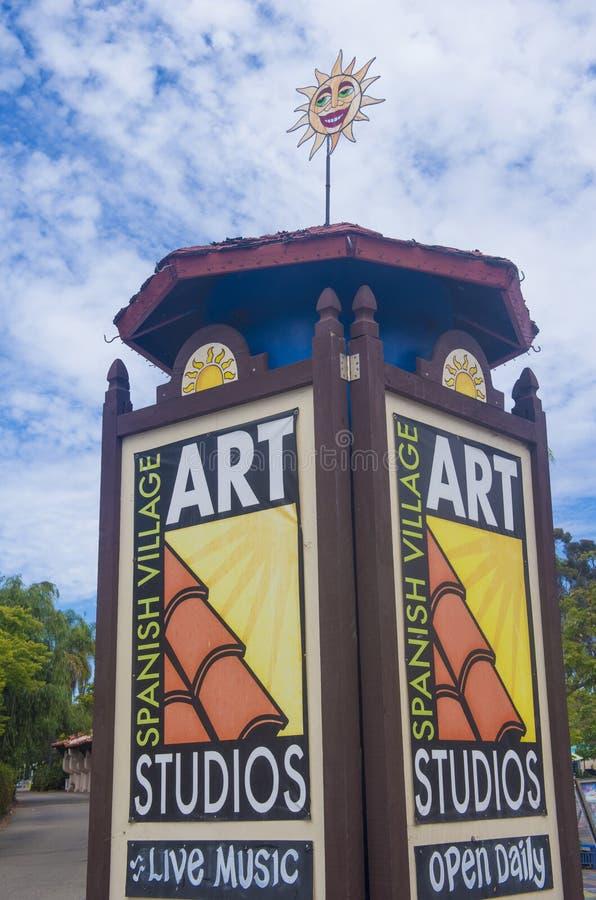 Centro espanhol da arte da vila imagem de stock