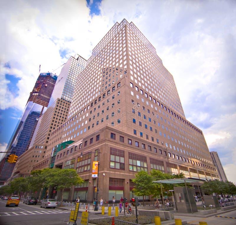 Centro financeiro de mundo em New York City fotos de stock royalty free