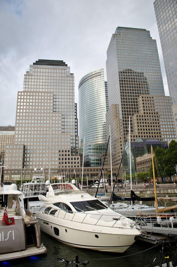 Centro financeiro de mundo em New York City imagens de stock royalty free