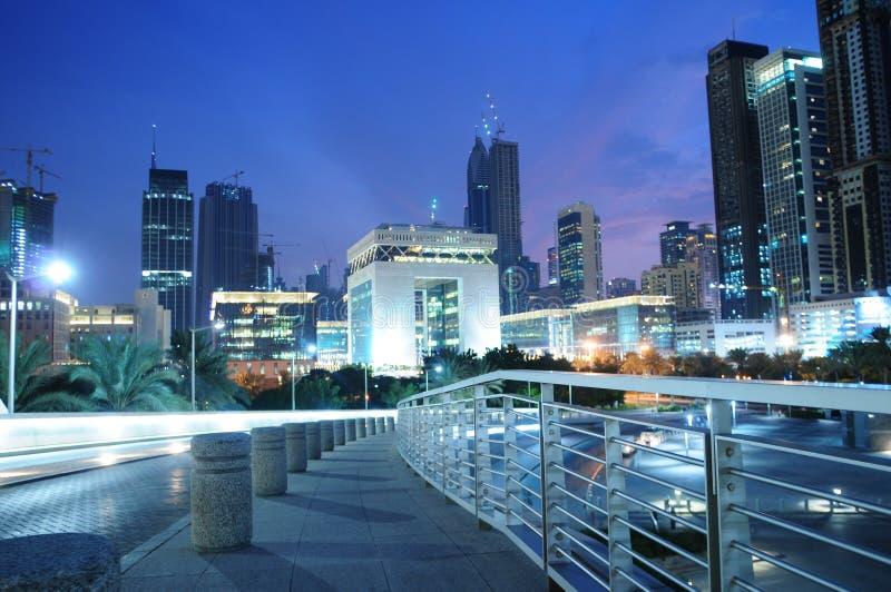 Centro financeiro internacional de Dubai fotos de stock