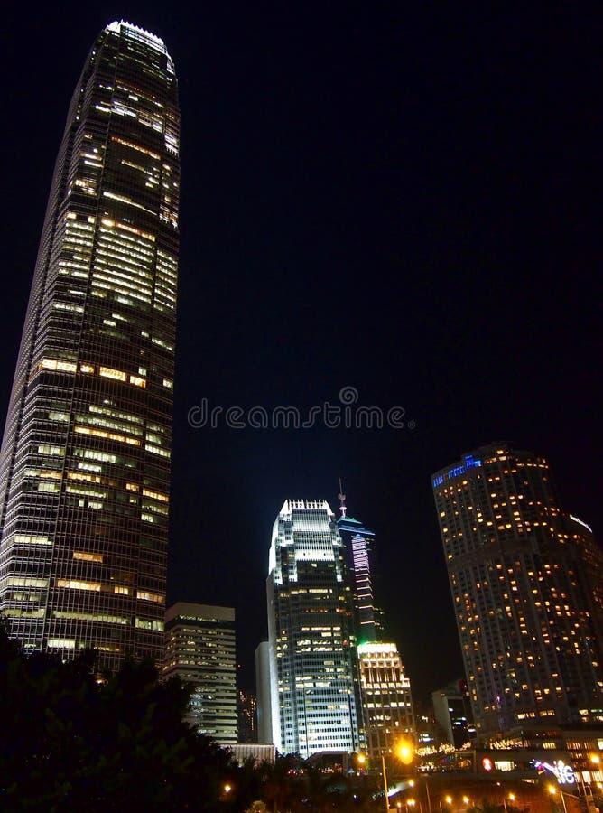 Centro financeiro internacional em Hong Kong imagens de stock