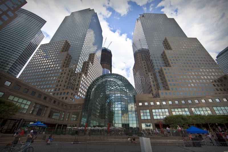 Centro financiero de mundo en New York City imagen de archivo libre de regalías