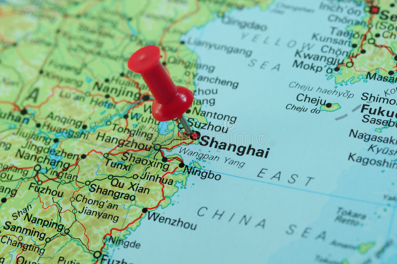 Centro financiero de Shangai imagenes de archivo