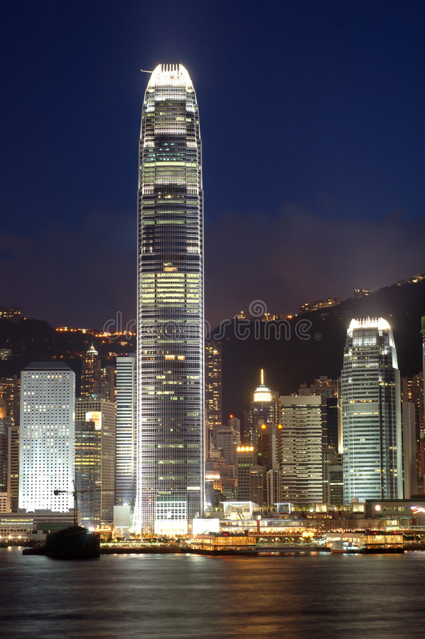 Centro financiero internacional imagen de archivo