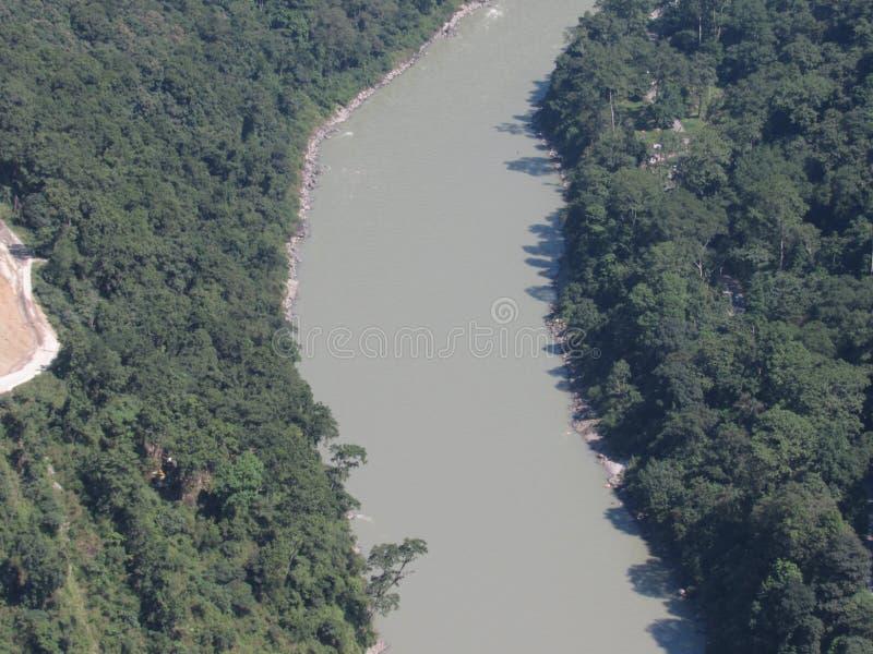 Centro floting del río de Tista del senary hermoso de la selva fotos de archivo