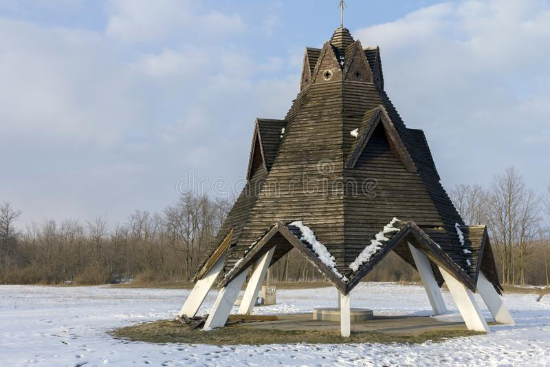 Centro geografico dell'Ungheria fotografie stock libere da diritti