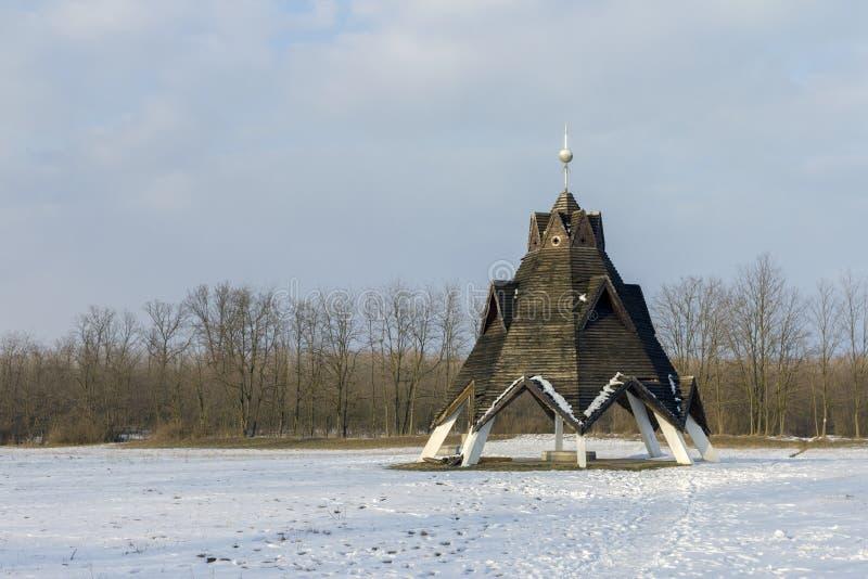 Centro geografico dell'Ungheria fotografia stock