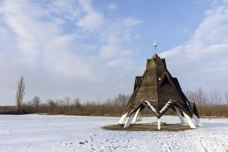 Centro geografico dell'Ungheria immagini stock