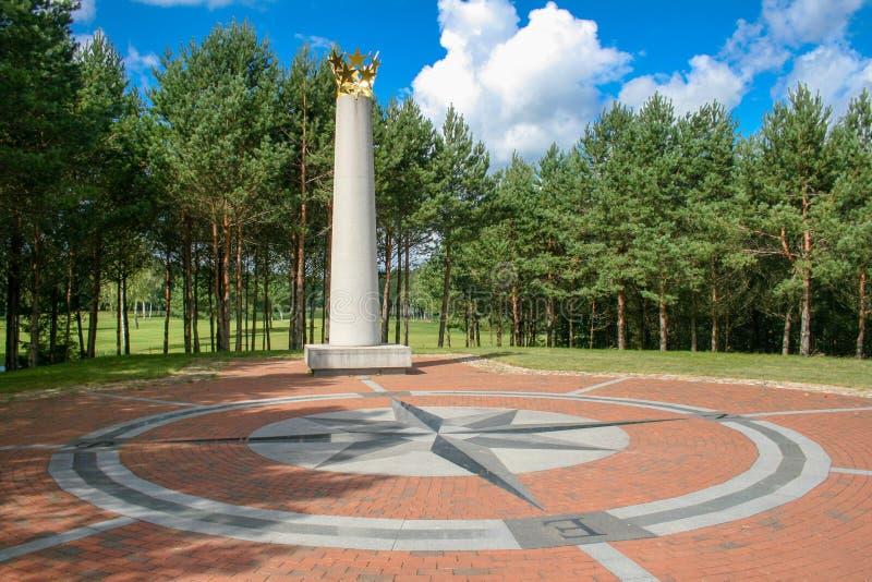 Centro geografico di Europa, Vilnius, Lituania fotografia stock libera da diritti